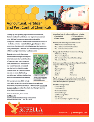 Agricultural, Fertilizer, and Pest Control Manufacturers Recruiter