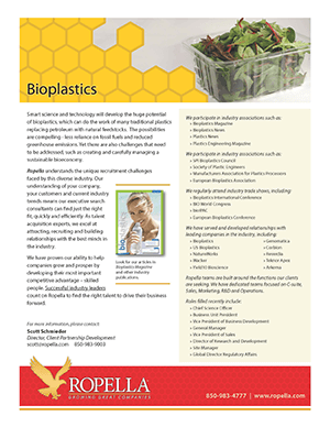 Bioplastics Recruiter | Ropella